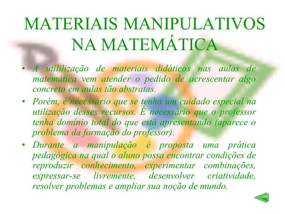 MATERIAIS MANIPULATIVOS NA MATEMÁTICA