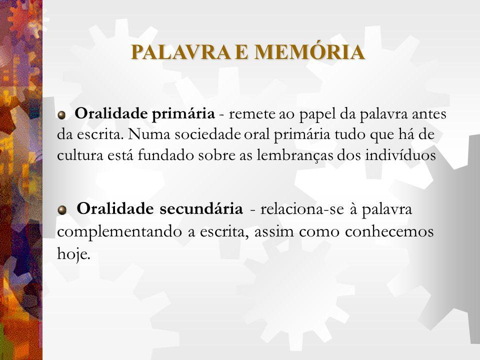 PALAVRA E MEMÓRIA