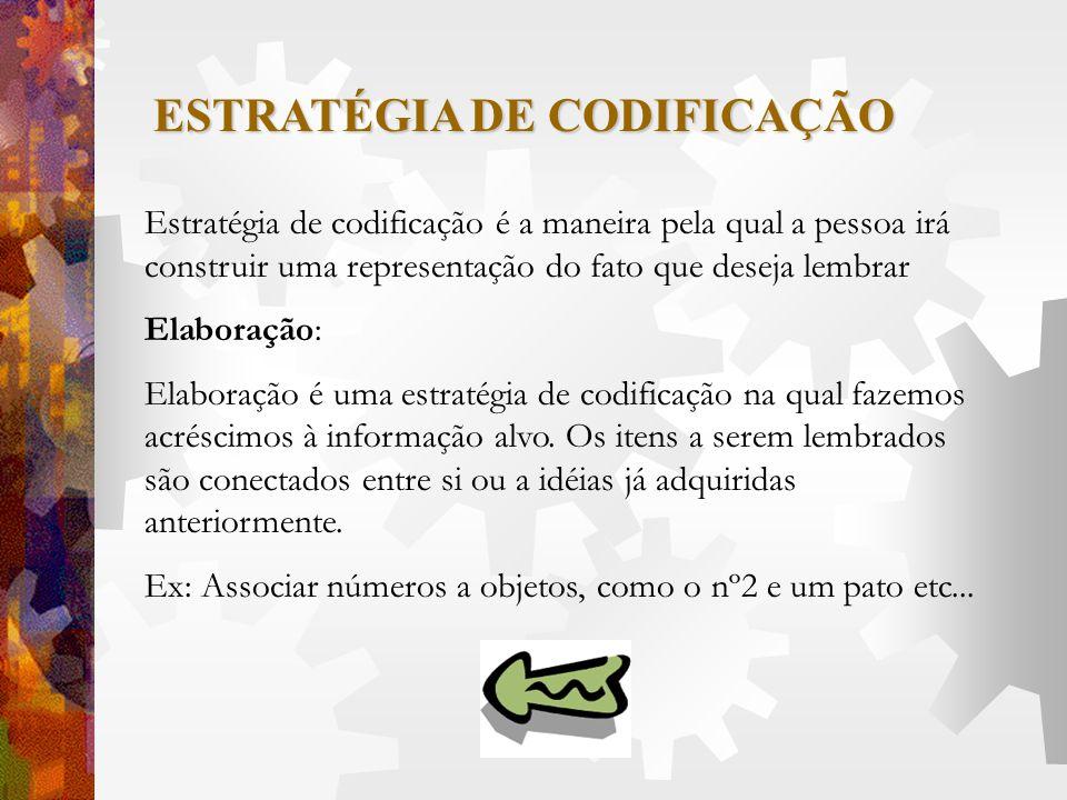 ESTRATÉGIA DE CODIFICAÇÃO