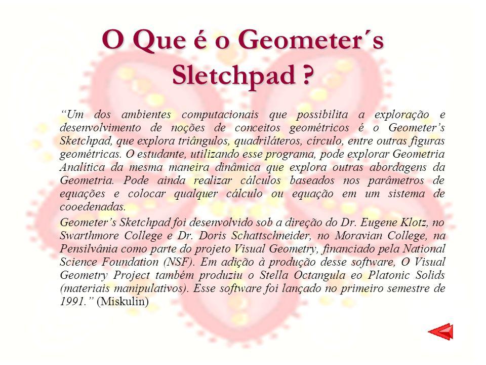 O Que é o Geometer´s Sletchpad