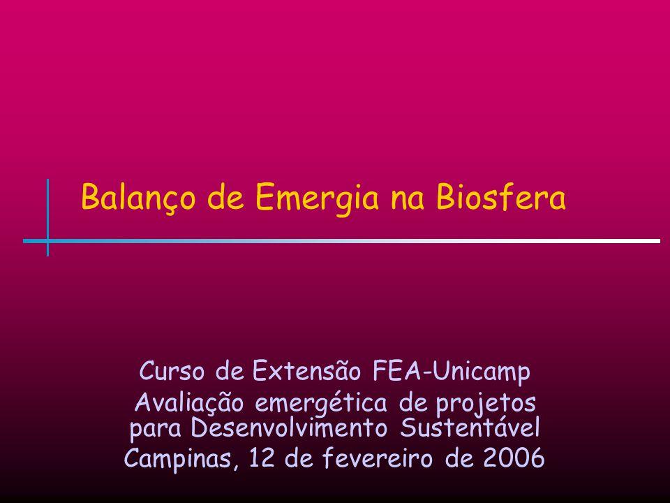 Balanço de Emergia na Biosfera