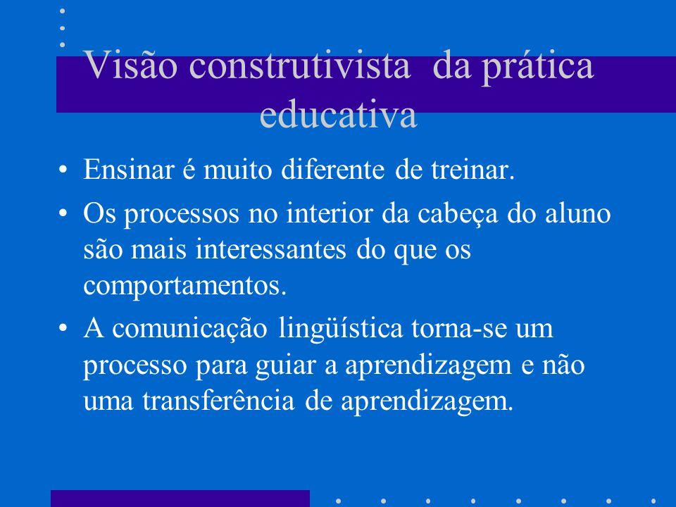 Visão construtivista da prática educativa