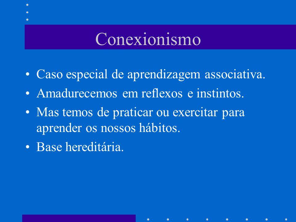 Conexionismo Caso especial de aprendizagem associativa.