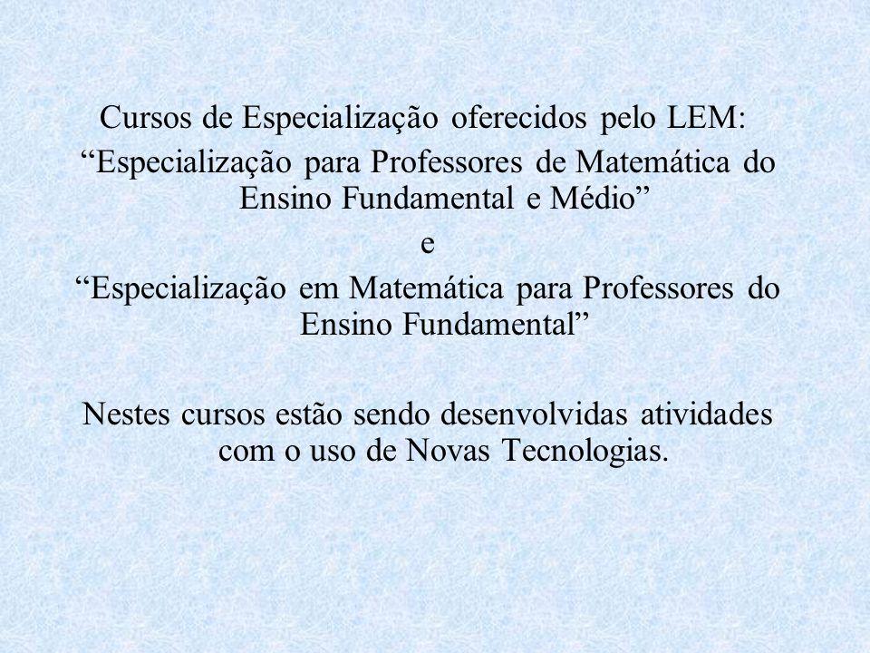 Especialização em Matemática para Professores do Ensino Fundamental