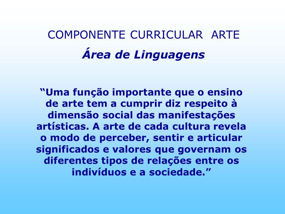 COMPONENTE CURRICULAR ARTE