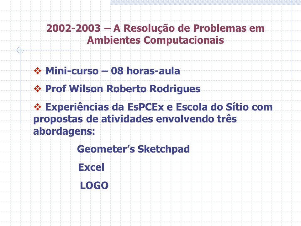 2002-2003 – A Resolução de Problemas em Ambientes Computacionais