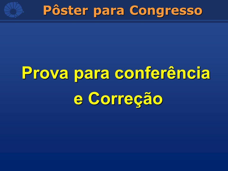 Prova para conferência e Correção