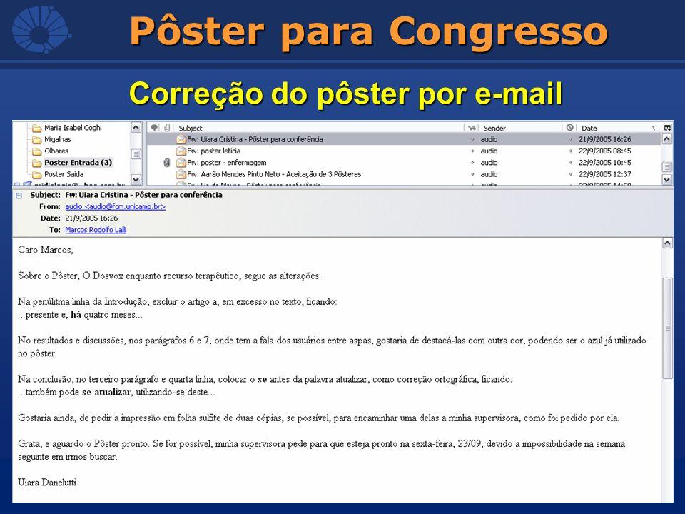 Correção do pôster por e-mail