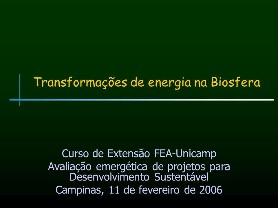 Transformações de energia na Biosfera