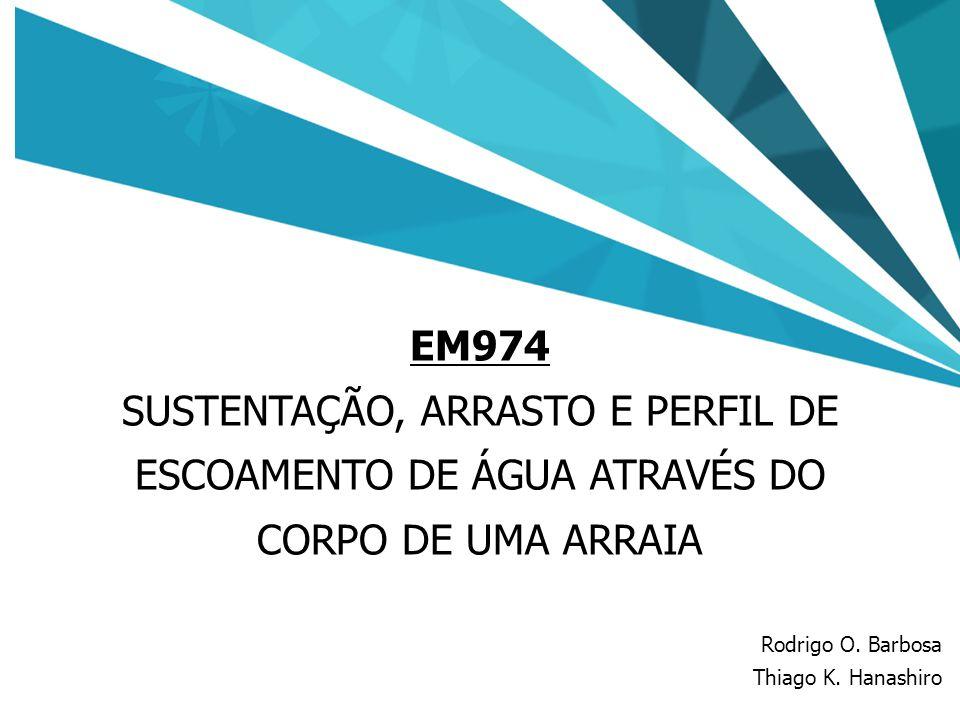 EM974 SUSTENTAÇÃO, ARRASTO E PERFIL DE ESCOAMENTO DE ÁGUA ATRAVÉS DO CORPO DE UMA ARRAIA. Rodrigo O. Barbosa.