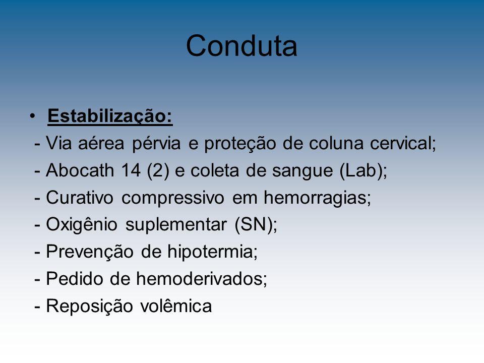 Conduta Estabilização: