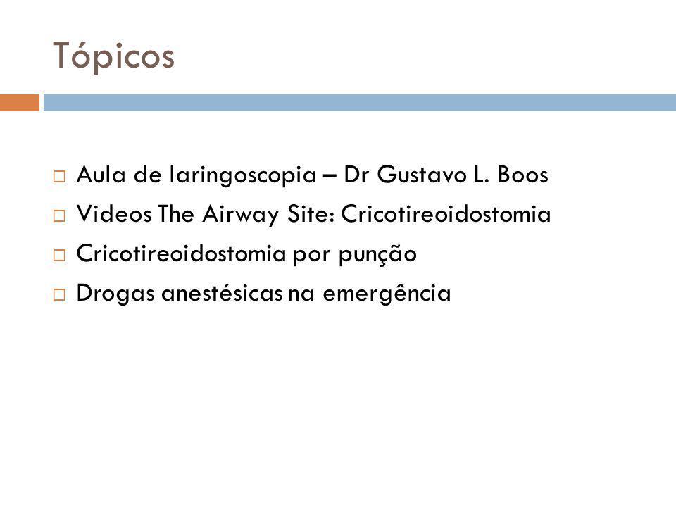 Tópicos Aula de laringoscopia – Dr Gustavo L. Boos