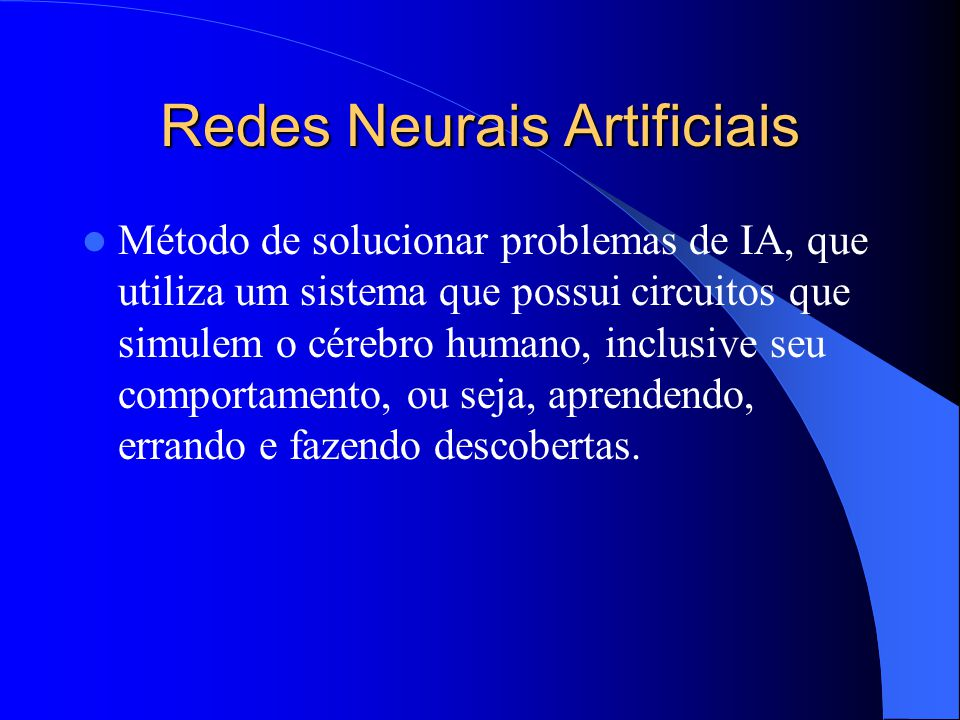 Redes Neurais Artificiais