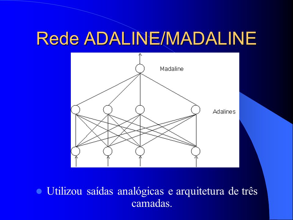 Rede ADALINE/MADALINE