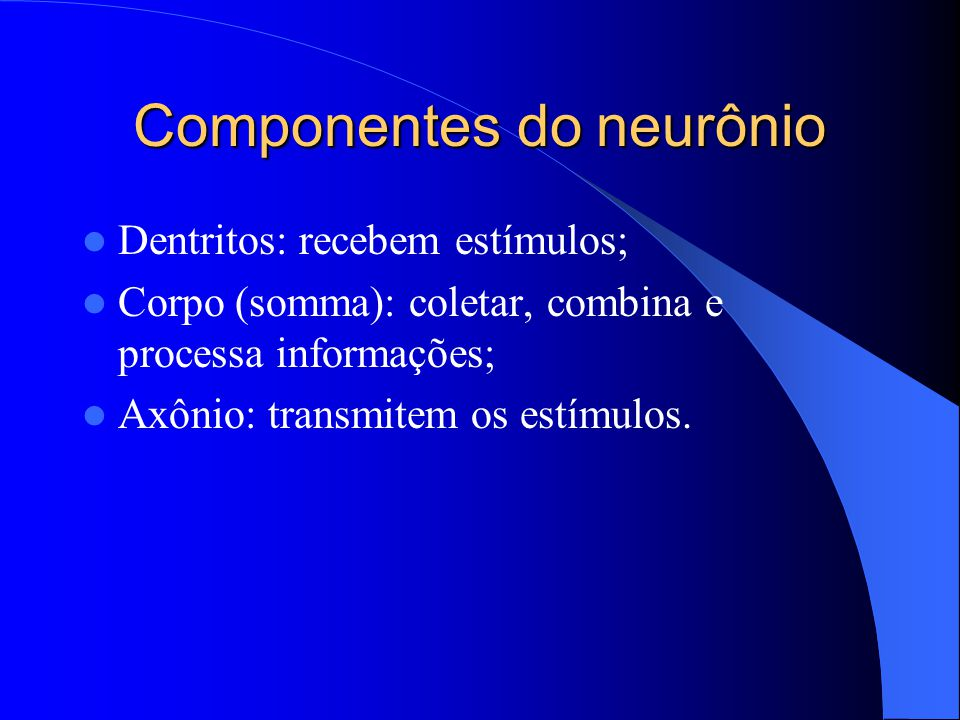 Componentes do neurônio