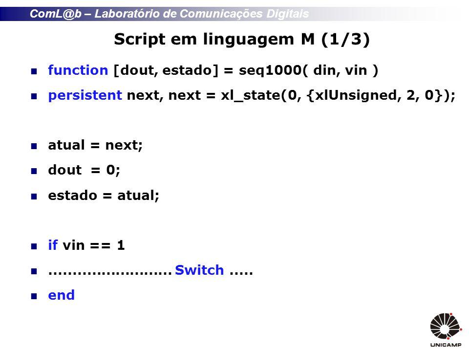 Script em linguagem M (1/3)