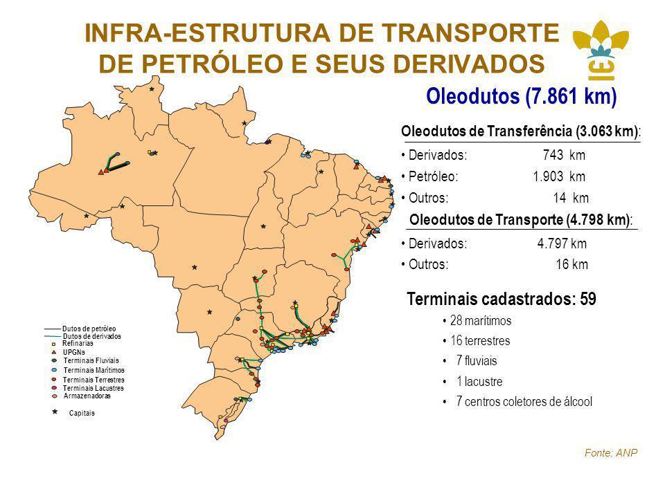 INFRA-ESTRUTURA DE TRANSPORTE DE PETRÓLEO E SEUS DERIVADOS