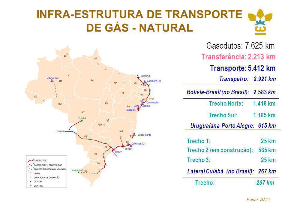 INFRA-ESTRUTURA DE TRANSPORTE DE GÁS - NATURAL