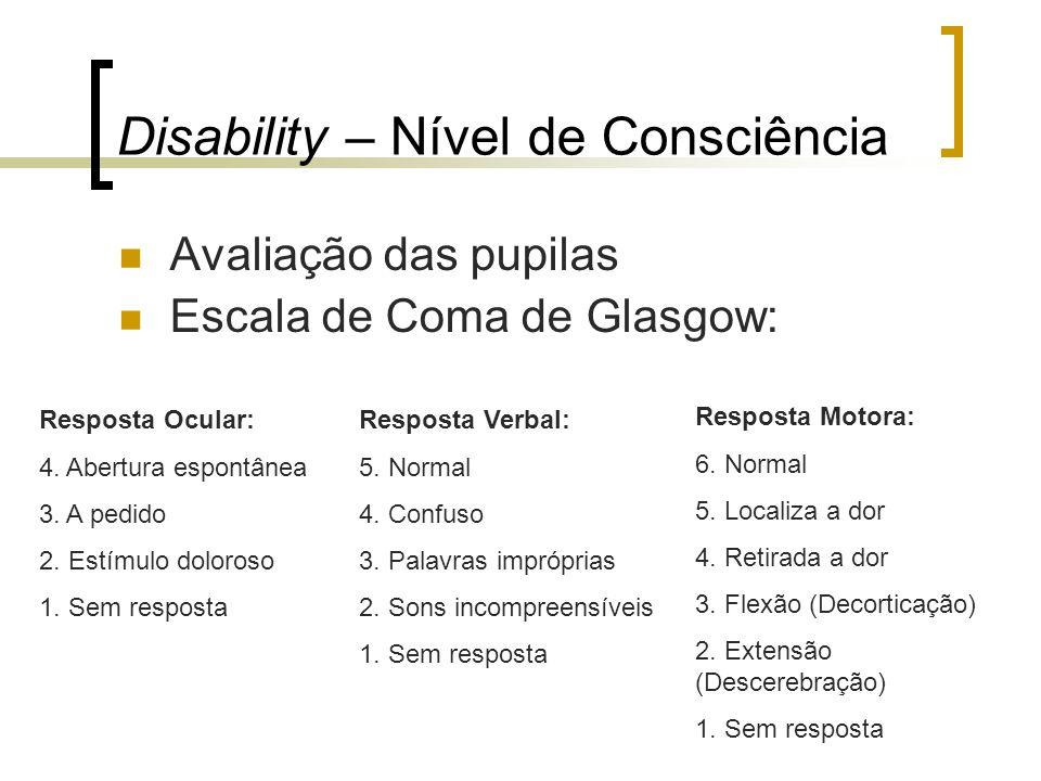 Disability – Nível de Consciência