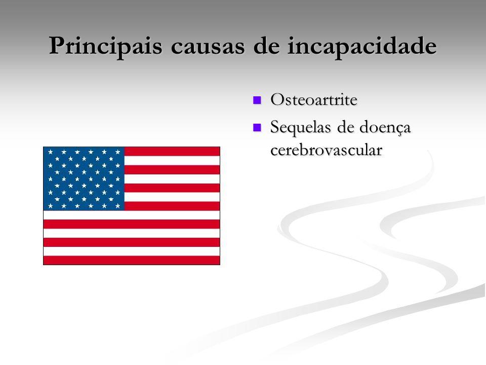 Principais causas de incapacidade