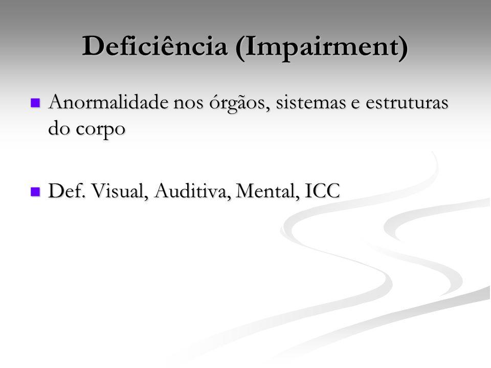 Deficiência (Impairment)