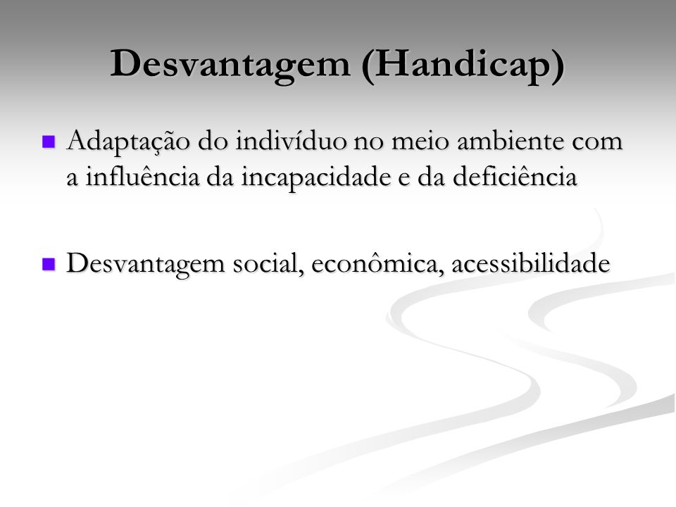 Desvantagem (Handicap)