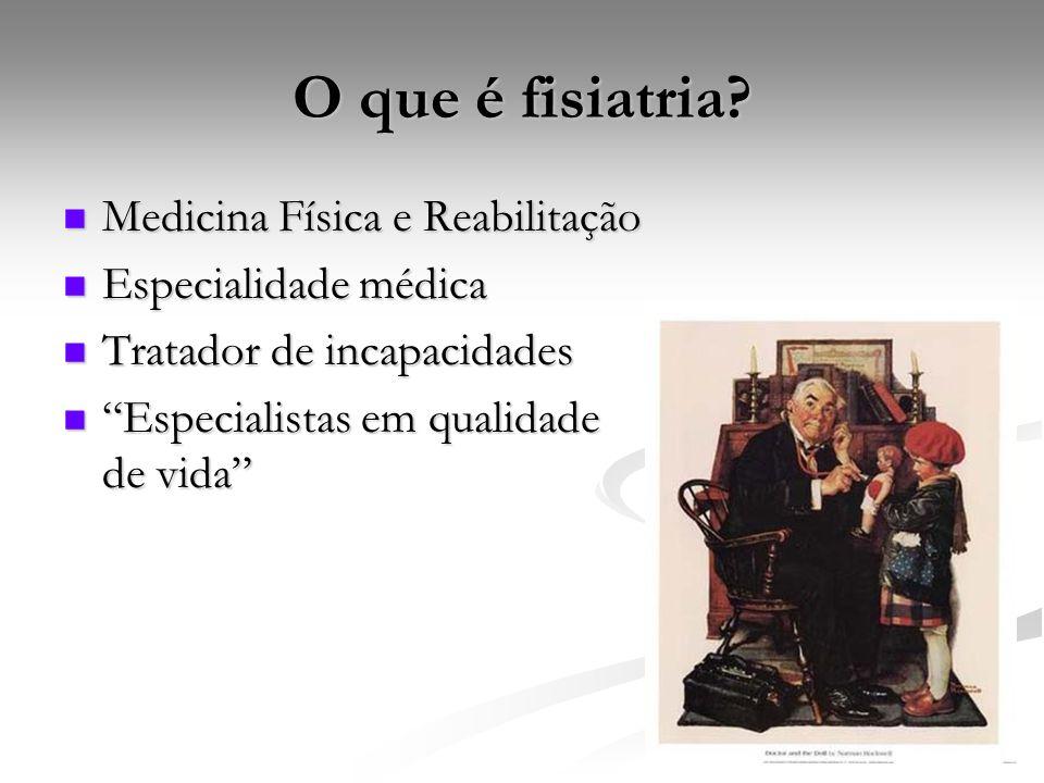 O que é fisiatria Medicina Física e Reabilitação Especialidade médica
