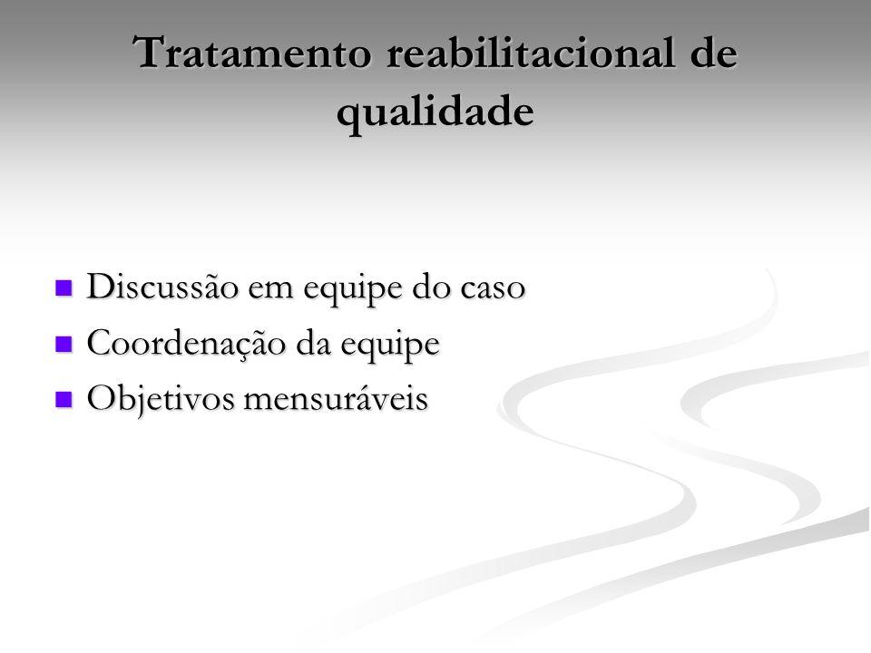 Tratamento reabilitacional de qualidade