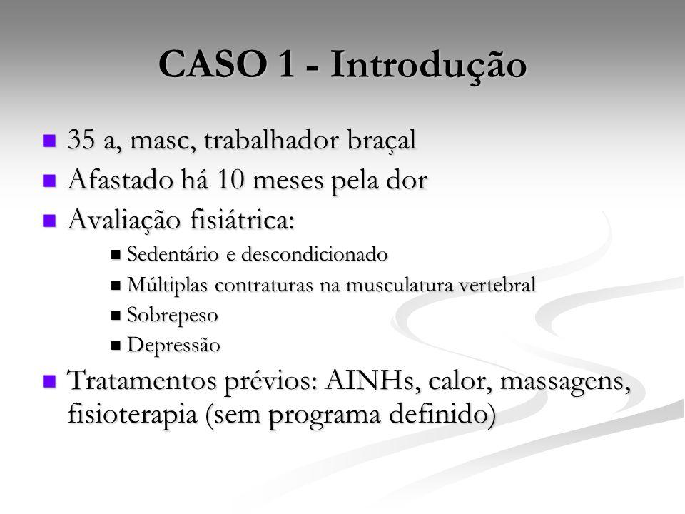 CASO 1 - Introdução 35 a, masc, trabalhador braçal