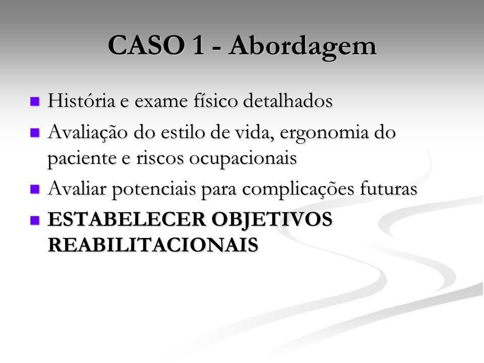 CASO 1 - Abordagem História e exame físico detalhados
