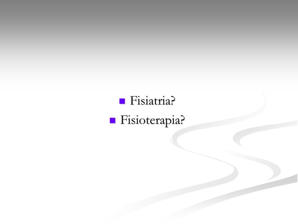 Fisiatria Fisioterapia