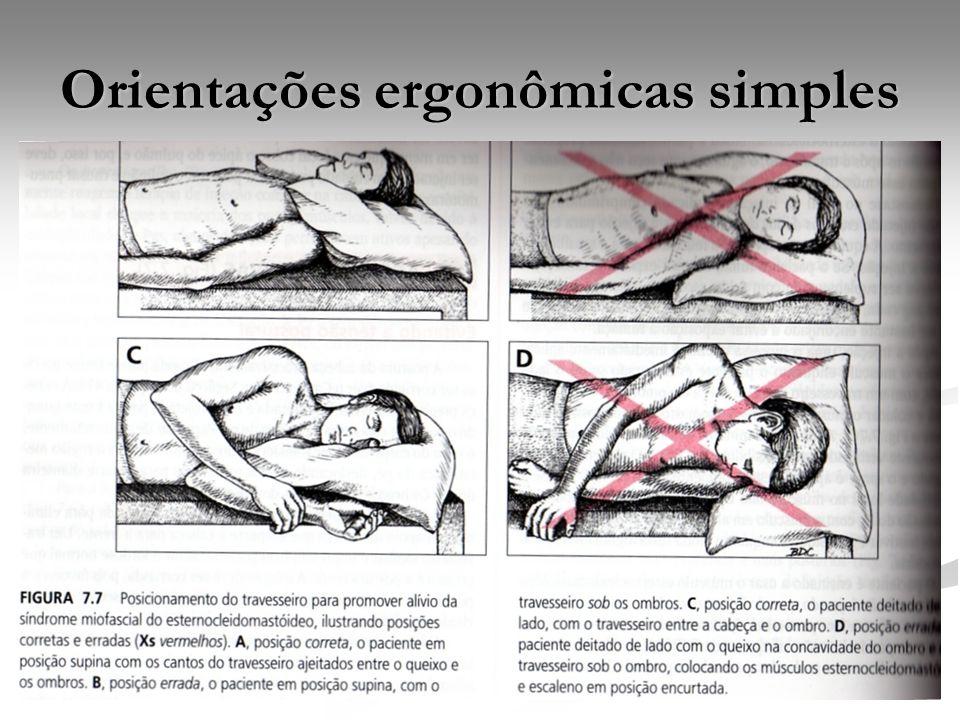 Orientações ergonômicas simples