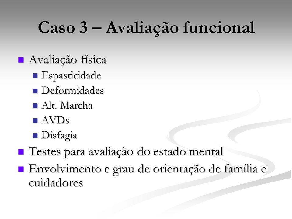 Caso 3 – Avaliação funcional
