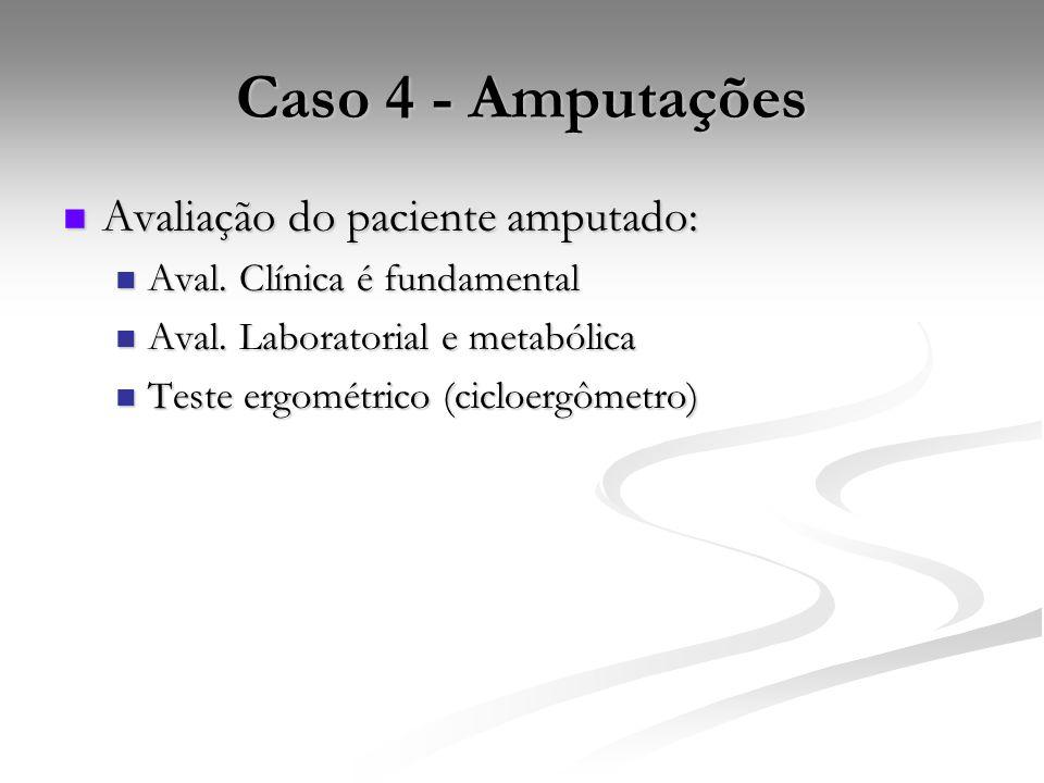 Caso 4 - Amputações Avaliação do paciente amputado:
