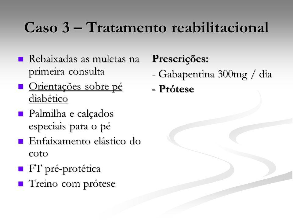 Caso 3 – Tratamento reabilitacional