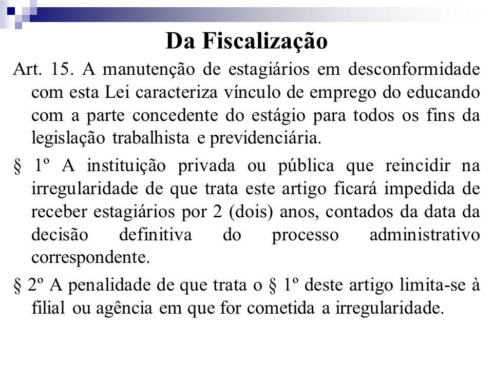 Da Fiscalização