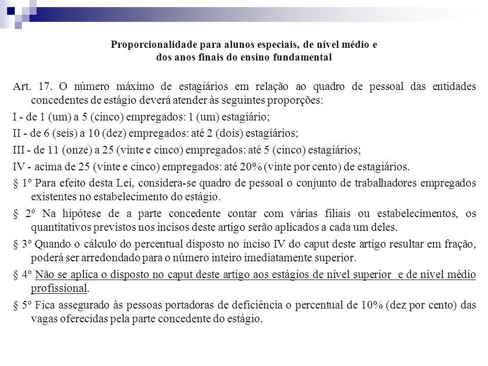 Proporcionalidade para alunos especiais, de nível médio e dos anos finais do ensino fundamental