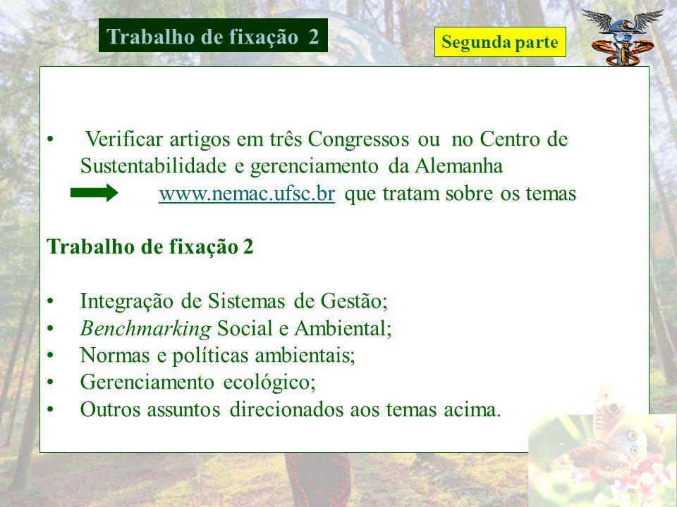 www.nemac.ufsc.br que tratam sobre os temas Trabalho de fixação 2