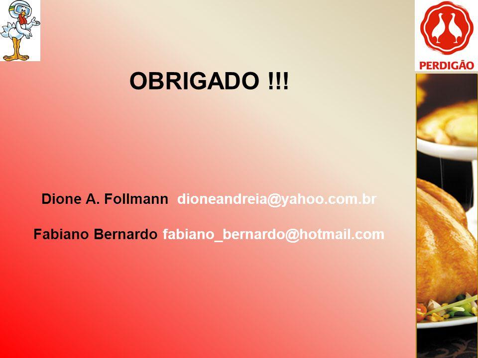 OBRIGADO !!! Dione A. Follmann dioneandreia@yahoo.com.br