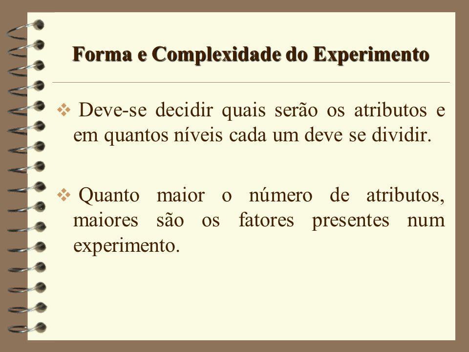 Forma e Complexidade do Experimento