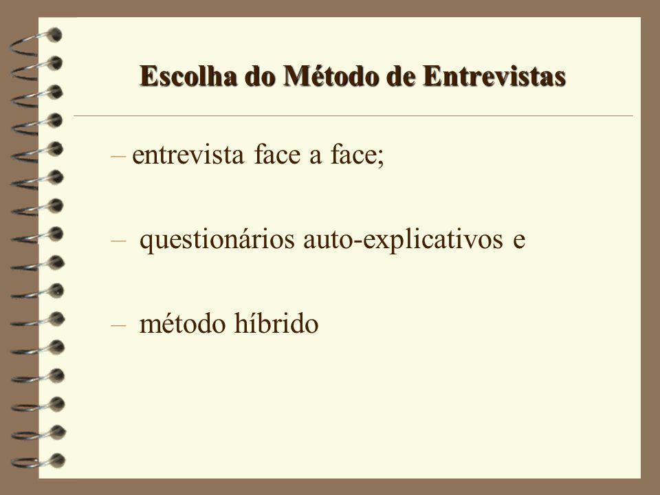 Escolha do Método de Entrevistas