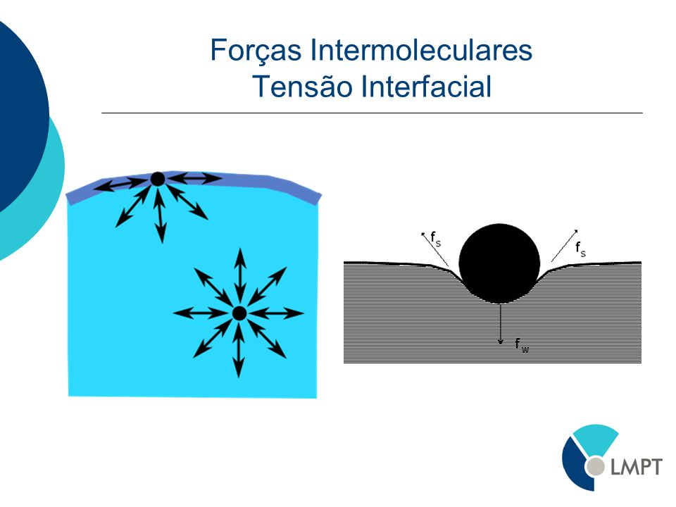 Forças Intermoleculares Tensão Interfacial