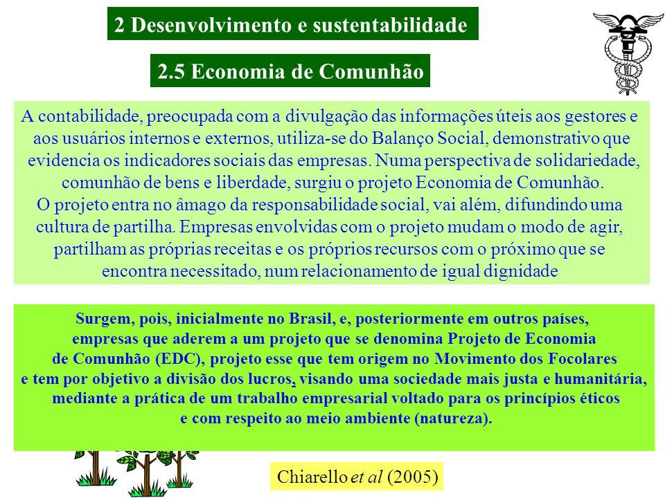 2 Desenvolvimento e sustentabilidade 2.5 Economia de Comunhão