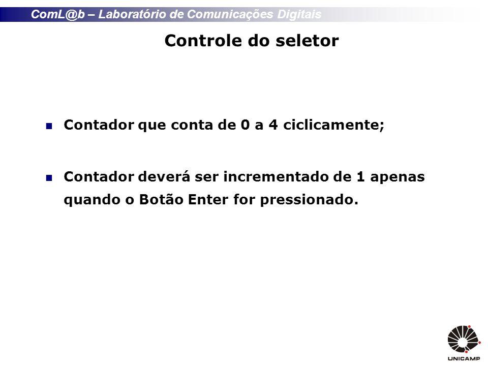 Controle do seletor Contador que conta de 0 a 4 ciclicamente;