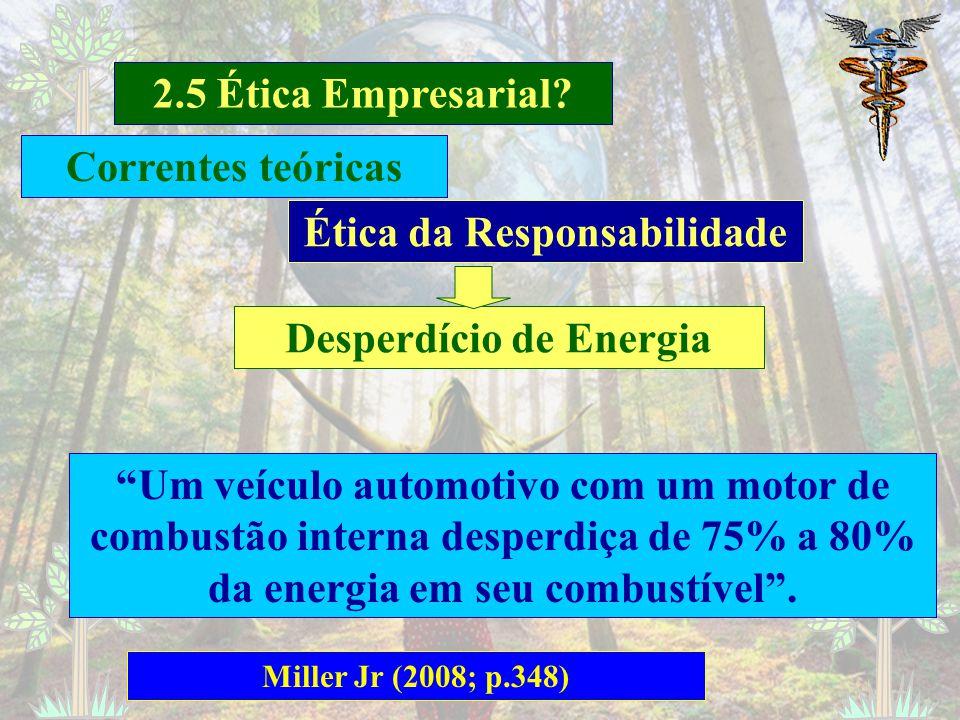 Ética da Responsabilidade Desperdício de Energia