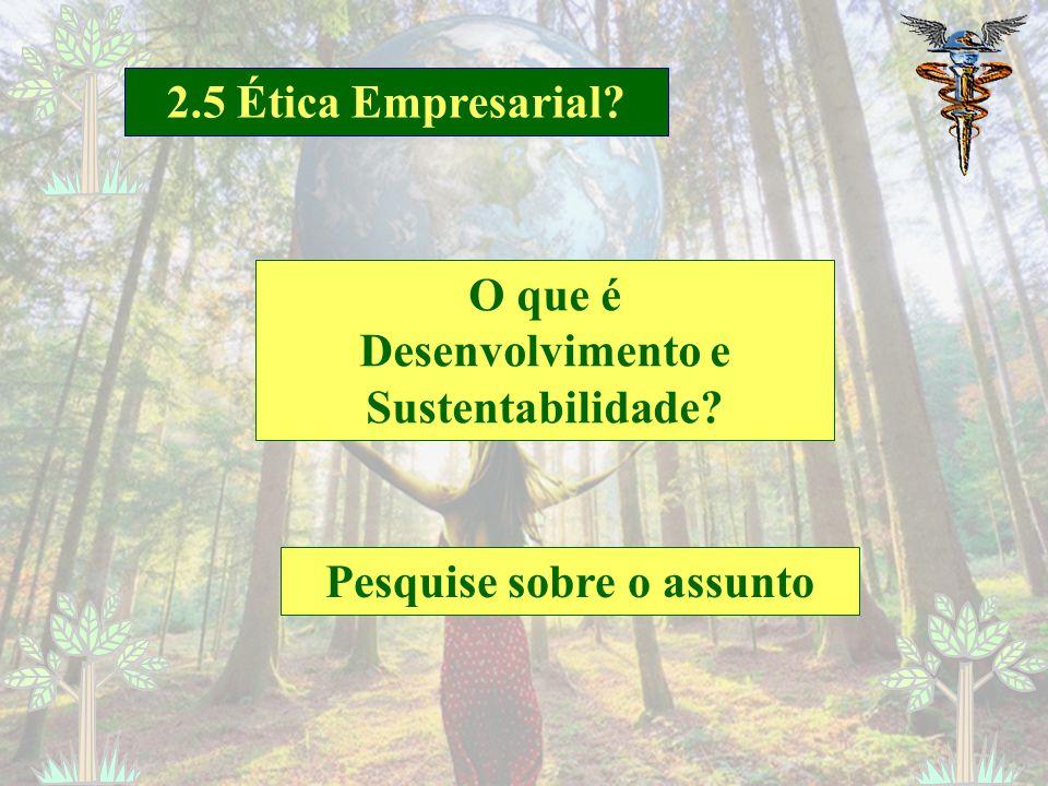 Desenvolvimento e Sustentabilidade Pesquise sobre o assunto