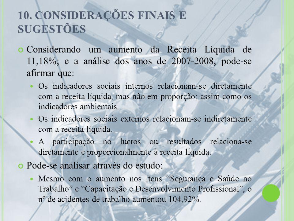 10. CONSIDERAÇÕES FINAIS E SUGESTÕES