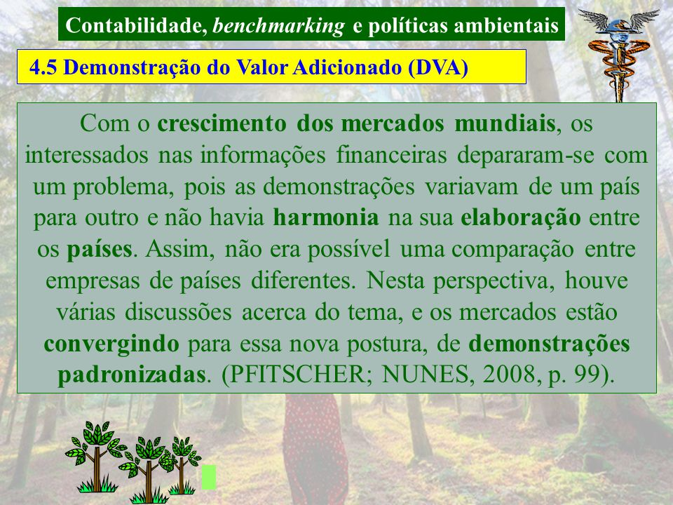 Contabilidade, benchmarking e políticas ambientais