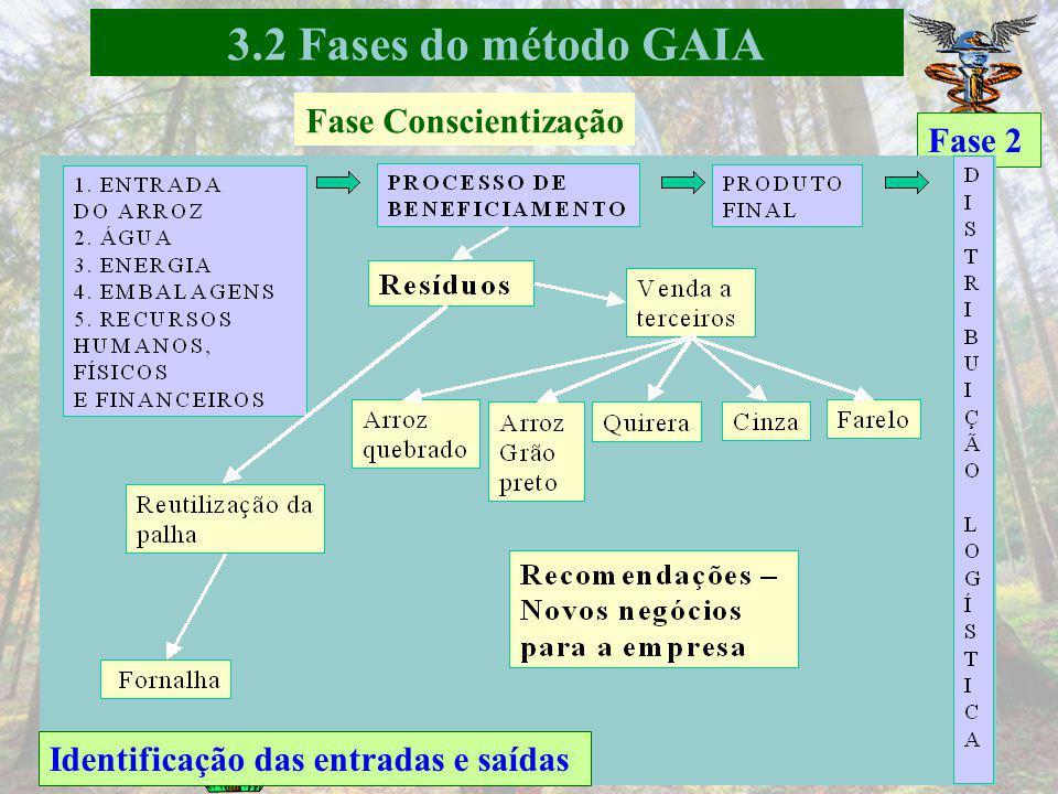 3.2 Fases do método GAIA Fase Conscientização Fase 2