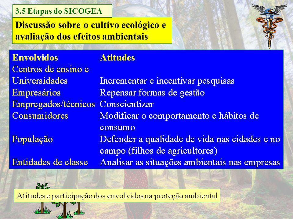 Discussão sobre o cultivo ecológico e avaliação dos efeitos ambientais
